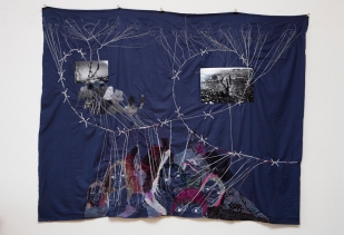 Series PALESTINE / SOUSIYA / printed photography sewing on cloth / 203x158 cm / 2008