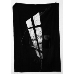 Aglaia Haritz Serie PALESTINE HEBRON photo sewing on fabric 153x105 cm 2008