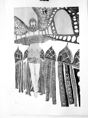 FASHION # 13 / indian ink on paper / 40x30 cm / 2013